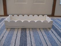 White Wood Scalloped Tray in Lockport, Illinois