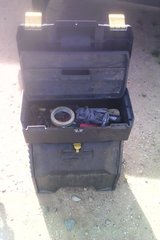 Stanley rolling tool box with some tools in Yucca Valley, California
