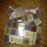 Small Bag of Glass Square Tiles in Bolingbrook, Illinois
