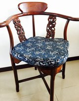 Rosewood Dragon Corner Chair w/ cushion in Okinawa, Japan