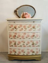 Pink, Ivory with Gold  Sweet Petite 4 Drawer Dresser in Baytown, Texas