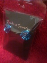 Blue Rose Stud Earrings in Phoenix, Arizona