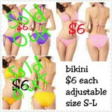Size S-L adjustable bikinis in Fort Benning, Georgia