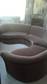 3PC Curved Sectional Couch in Naperville, Illinois