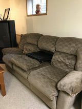 sofas with two recliners and a coffee stand in the middle in St. Charles, Illinois