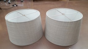 "13"" Grey/Gold Lamp Shades in Kingwood, Texas"