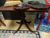 antique footed pedestal coffee table in Wilmington, North Carolina