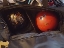 Bowling balls (x2) and bag in Cherry Point, North Carolina