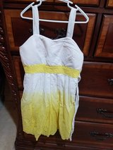 New Yellow / white ombre dress -girls size 12 in Naperville, Illinois