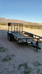 2014 Big-Tex 50LA Flat bed trailer 14'x6.5' Tandem Axle with Electric Trailer Brakes.....trade? in 29 Palms, California