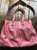 Polished Pebble Leather Pink COACH purse in Bartlett, Illinois