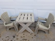 Child's Adirondack 3 Piece Table & Chair Set in Clarksville, Tennessee
