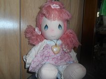 "1985 Vintage  ""PRECIOUS MOMENTS"" Cloth Doll!  Wearing her ""Precious Moments"" Necklace! 14"" in Kingwood, Texas"