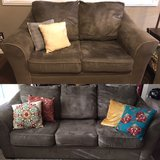 Sage Microfiber Couch and Loveseat in Fairfield, California
