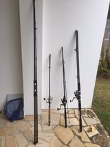 Three rod/reels and One 12ft surf rod in Okinawa, Japan