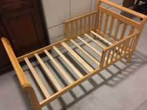 Toddler Bed - Natural Wood Color in Okinawa, Japan