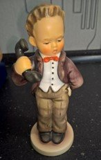 Hummel Goebel Figurine Hello Boy Talking Telephone #124/0 signed 2 signatures in Ramstein, Germany