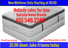New mattress starting at 99.00 in Cherry Point, North Carolina