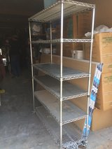 Stainless Steel Restaurant Style Rolling Storage Rack in Fort Bliss, Texas