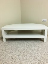 White corner TV stand in Bartlett, Illinois