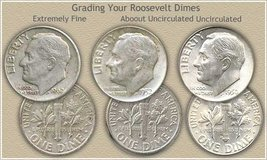 Various Silver Roosevelt Dimes in 29 Palms, California