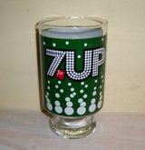 Old seven up glasses in Lawton, Oklahoma