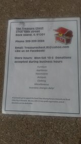 The Treasure Chest Second hand store 2754-12th street Rock Island Illinois.,61201 in Quad Cities, Iowa