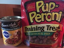 Ten 13.2oz Cans Of HomeStyle Pedigree Dog Food And A 5.6oz Bag Pup-Peroni in Perry, Georgia