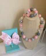 Gumball jewelry for children, add a matching bow in Camp Lejeune, North Carolina
