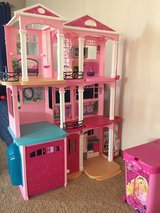 Barbie Dream House, accessories and rolling case in Morris, Illinois