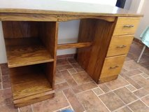 Oak wood desk in Alamogordo, New Mexico