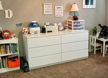 White dresser in Vacaville, California
