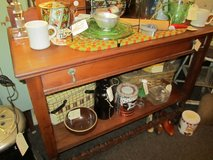 Wood open buffet table with drawer in Elgin, Illinois