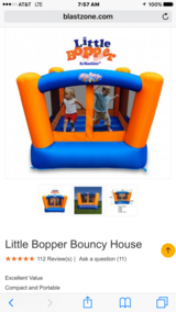 Little Bopper blast zone bounce house! in Joliet, Illinois