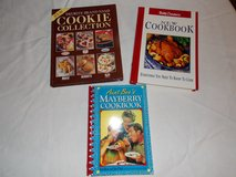 3 Cookbooks, Mayberry Cookbook,Cookie Collection, And Betty Crocker New Cookbook in Fort Campbell, Kentucky