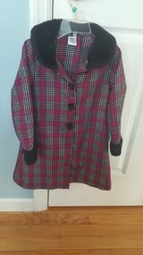Girls Magenta Plaid Dress with Jacket in Belleville, Illinois