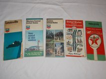 5 Vintage Road Maps in Fort Campbell, Kentucky