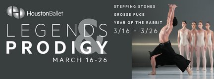 """**** (2/4) """"Legends & Prodigy"""" Houston Ballet Tix - 6th Row/Center/Lowers - Sat, March 25 - 7:30... in Houston, Texas"""