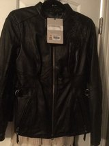 NWT HARLEY DAVIDSON WOMEN'S BLACK LEATHER JACKET WITH CRYSTAL LOGO in Houston, Texas