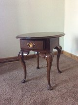 Queen Anne Wood End Table 25 by21  23 inches tall in New Lenox, Illinois