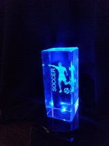 light up soccer trophy.. free engraving in Joliet, Illinois