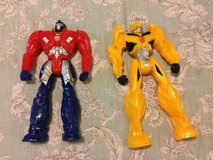 "Transformers 12"" Figures Optimus Prime & Bumblebee in 29 Palms, California"