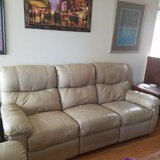 *Reduced* Ivory-ish Light Tan Leather Couch Set in Fairfield, California