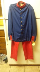 Blue & Red 1960s Military Uniform from French Foreign Legion in Fort Rucker, Alabama