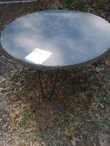 Slate table on wrought iron base in Beaufort, South Carolina