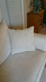 WHITE PALM PRINT CUSTOM COUCH in Eglin AFB, Florida