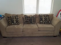 Couch with decorative pillows in Fort Irwin, California