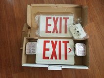 NEW REDUCED: Emergency Exit/Lighting Sign in St. Charles, Illinois