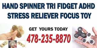 NEW  Hand Spinner Tri Figet Stress Reliever Anxiety Autism ADHD Focus Toy in Cochran, Georgia