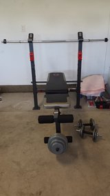 Weight set with bench in Oceanside, California